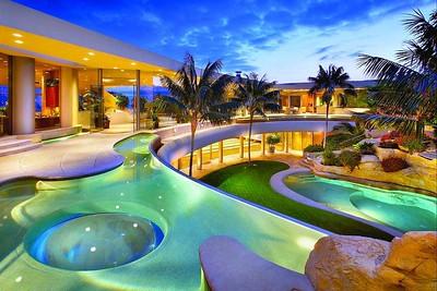 piscine colorée
